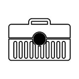 Toolbox kit isolated icon Stock Photo