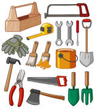 Toolbox and many tools. Illustration Stock Images