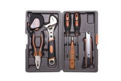 Toolbox met diverse hulpmiddelen royalty-vrije stock foto