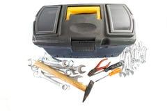 Toolbox och hjälpmedel III royaltyfri foto