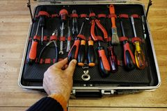 The toolbox open royalty free stock image