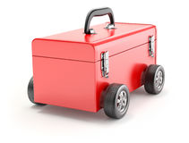 Toolbox på hjul stock illustrationer