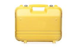 toolbox plastikowy kolor żółty Zdjęcia Stock