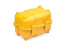 toolbox plastikowy kolor żółty Obrazy Stock
