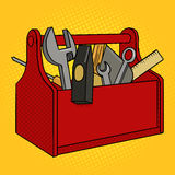 Toolbox red color pop art style vector Stock Photography