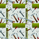 Toolbox seamless background design Stock Photography