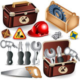 Toolbox set Royalty Free Stock Photography