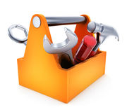 Toolbox symbol on white background Royalty Free Stock Photos