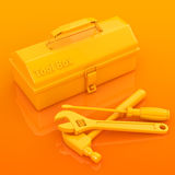 Toolbox and tool Stock Photography