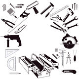 Toolbox and toolkit Royalty Free Stock Photo
