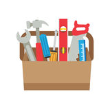 Toolbox with tools. Royalty Free Stock Images