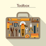 Toolbox With Tools royalty free illustration