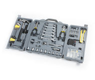 Toolbox ustawiający narzędzia zawiera młoteczkowego wyrwanie kawałka kierowcy cążków hex Obrazy Royalty Free