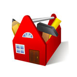 Toolbox van het huis Stock Afbeelding