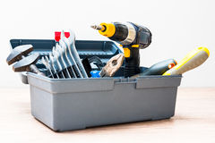 Toolbox with variety of tools. Isolated toolbox with variety of tools Stock Photos