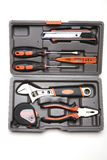 Toolbox with various tools Royalty Free Stock Images