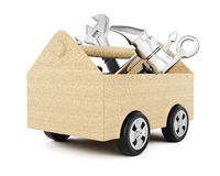 Toolbox with wheels Stock Photos