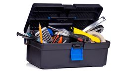 Toolbox on white background Royalty Free Stock Photography