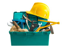 Toolbox on white background Stock Images