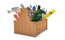 Toolbox  on white Royalty Free Stock Image