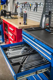 Toolbox in the workshop Royalty Free Stock Photography
