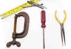 Tooles verwendete, um das Wort DIY zu schreiben Lizenzfreies Stockfoto