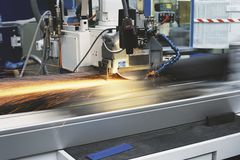 Tooling machine. Detailed tooling machine in action Stock Images
