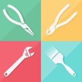 Toolkit pictogrammen geplaatst voor om het even welk gebruik, Vectoreps10 groot Royalty-vrije Stock Afbeeldingen