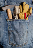 Toolkit in a Pocket Royalty Free Stock Photo
