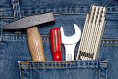 Toolkit in a pocket Royalty Free Stock Image