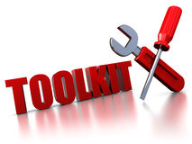Toolkit sign Royalty Free Stock Images