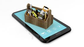 Toolkit on tablet Stock Photography