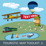 Toolkit for touristic map Stock Photography