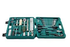 Toolkit van diverse hulpmiddelen in de doos Royalty-vrije Stock Fotografie