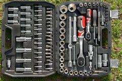 Toolkit of various tools Stock Photos
