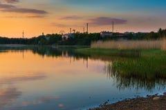 Toolo海湾在赫尔辛基 免版税库存照片