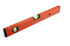 Tools 1. Close up of spirit level for construction workers on white background with clipping path Stock Photography