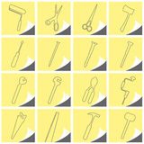 Tools. Vector collection of some tools Royalty Free Stock Photography