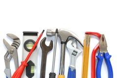 Tools. Set isolated on white background Royalty Free Stock Photos