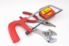 Tools. Wrench, screw, pliers, jaw Stock Images