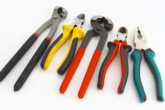 Tools. On the white background Royalty Free Stock Photos