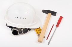 Tools. Construction tools on the table Royalty Free Stock Image