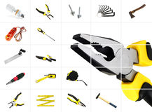 Tools. Set of pliers with different instrumental tools Stock Image