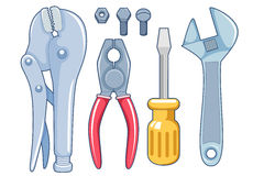 Tools. Isolated on white Royalty Free Stock Photography