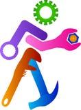 Tools. Illustration of tools design isolated on white background royalty free illustration