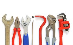 Tools. Set of tools isolated on white background Stock Images