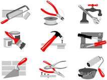 Tools. A set of different tools Royalty Free Stock Photo