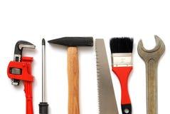 Tools. Set isolated on white Royalty Free Stock Photo