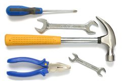 Tools. Isolated tools Royalty Free Stock Photos