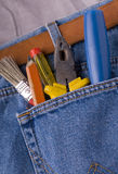 Tools. In the pocket of a jeans Royalty Free Stock Images